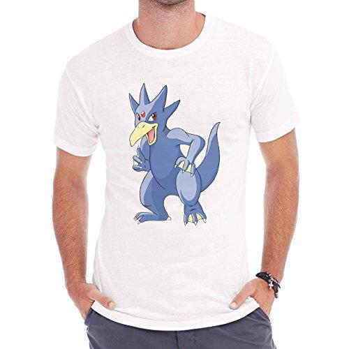 Pokemon Golduck Duck Water Yellow Mouth Herren T-Shirt Weiß