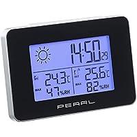 PEARL Thermometer: Wetterstation mit Funkwecker, Thermo-/Hygrometer und Funk-Außensensor (Wetterstationen mit Funkuhren und Außensensoren)