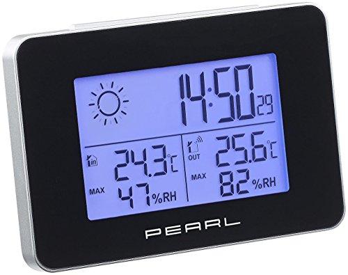 PEARL Funkthermometer: Wetterstation mit Funkwecker, Thermo-/Hygrometer und Funk-Außensensor (Digitale Wetterstation)