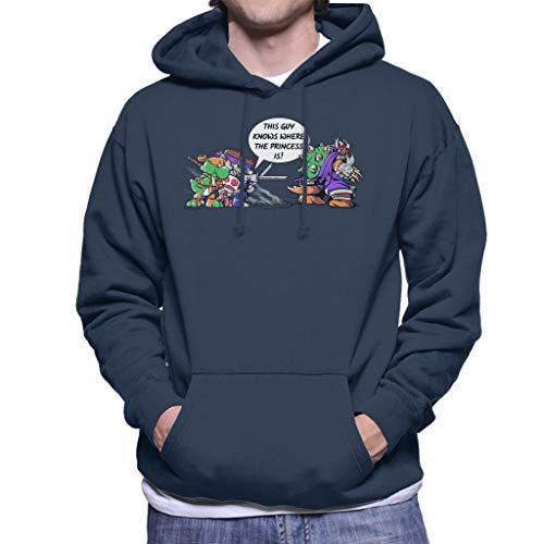 Cloud City 7 Super Ninja Bros TMNT Super Mario Men's Hooded Sweatshirt