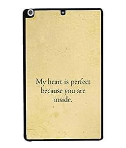 Fuson Designer Back Case Cover for Apple iPad Mini Wifi :: Apple iPad Mini Wifi + Cellular (7.9 Inches) (Heart Love Feelings Humorous Words)