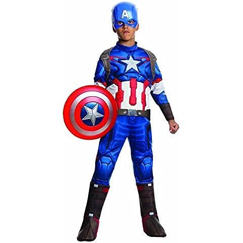 Capitán América - Disfraz deluxe, para niños, talla 3-4 años (Rubies 610425-S)