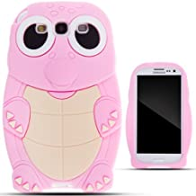 Zooky® rosa silicona tortuga FUNDA / CARCASA / COVER para Samsung Galaxy S3 / SIII