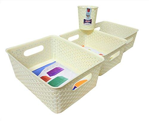 fair foodTM STORAGE BASKET (SET OF 4) - INCLUDING CUTLERY HOLDER {Big Basket, Medium Basket, Small Basket & Cutlery Holder}