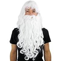 Perücke & Bart Weihnachtsmann Zauberer Dumbledore Wig