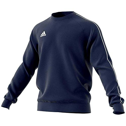 adidas Core18 SW Top Sweat-Shirt Homme, Dark Blue/Blanc, FR : L (Taille Fabricant : L)