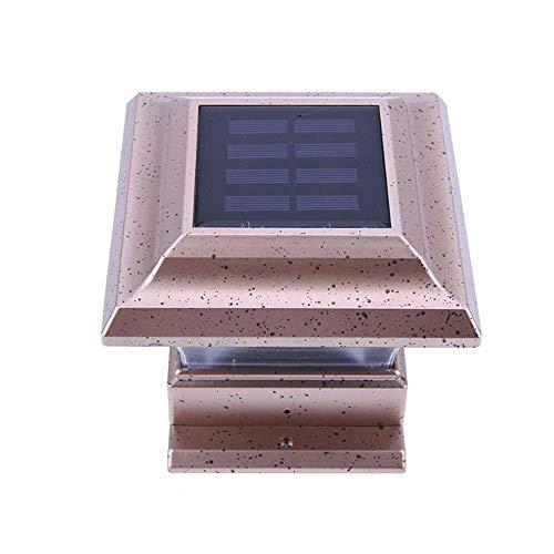 Wiederaufladbare Solar-Led-Gartenleuchte Wasserdichte Außensäule Solarzaun Licht Energie Suchscheinwerfer Gartenleuchte Zaun Wandleuchte Led-Geländer Landschaft Straßenlaterne