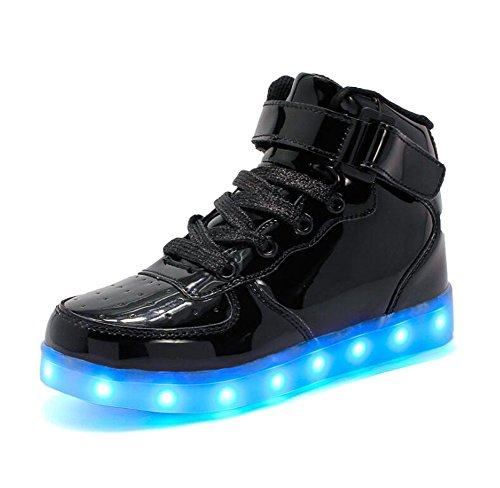 2fd8f030fc7ec Rojeam Unisexo Adulto Altos LED Shoes Zapatos Deportivos USB Charging Aire  Libre Athletics Casual Parejas Zapatos