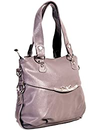 Bagris Awesome Stylish Grey PU Leather Hand Messenger Bag For Women & Girls GE01001612