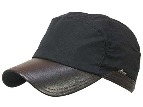 0c24f40dc0bd9 Wigens Bill Gore-Tex Baseballcap mit Ohrenklappen aus gewachster Baumwolle  und Elchleder Schirm - black