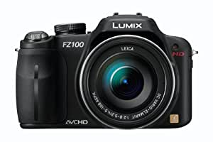 Panasonic Lumix FZ100 14.1MP Digital Camera - Black (3.0 inch TFT LCD Display, LEICA DC Lens with 24x Optical Zoom and Full HD Movie)