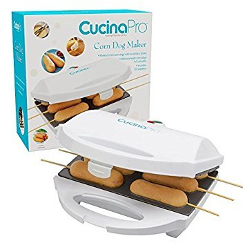 Hot Dog on a Stick Maker - Makes Perfect Corn Dogs, Cheese on a Stick, Cake Pops and More - Includes Skewers and Recipes