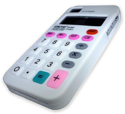 Kalkulator Xcessor Fun Line coque de protection en silicone-pour Apple iPhone 4 et 4S blanc