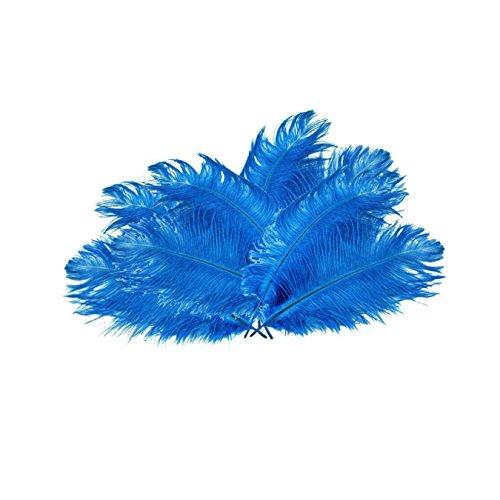 uooom natur Strauß Federn flauschig Federn für Hochzeit Party DIY Dekoration, blau (Roten Und Schwarzen Feder-boa)