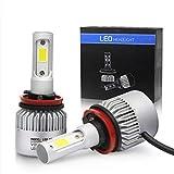 Auto-Scheinwerfer-Lampen-Kit, verbesserte helle weiße Scheinwerfer-Birne, 72W 8000LM 6000K Scheinwerfer-Birnen-Doppel-Hallo/Lo-Strahl (2pcs / set) (H11)