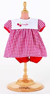 Corolle 30cm Dolls Dress Set for Calin and Tidoo baby (Red)