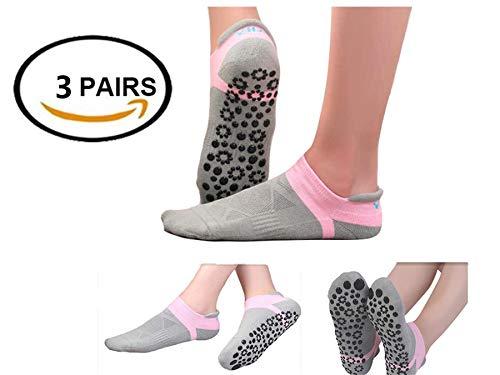 SANIQUEEN.G 3 Paar Order 4 Paar Damen Yoga/Pilates Socken Antirutsch/Rutschschutz/Rutschfest Socken für Pilates, Yoga, Kampfsport, Gym, Tanz (Gruppe 3-3 Paar)