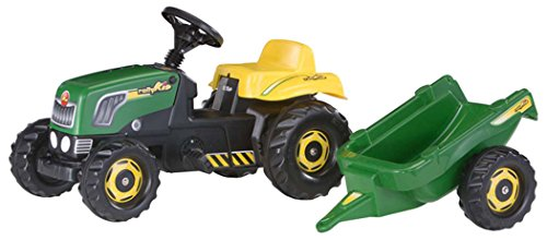 rolly toys 012442Rolly Kid Pedal Tractor con abstell Track-Green Niños Toys