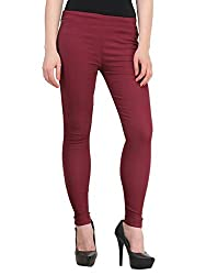 Vbirds Girls Fit Pant Jegging Maroon Size-32 (Only one)