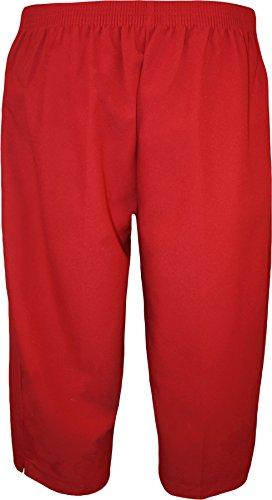 WearAll - Pantacourt simple avec taille élastique et les poches - Pantalons - Femmes - Grandes tailles 40 à 52 Rouge