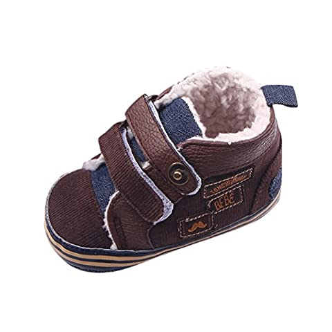 ROPALIA Baby Boys Winter Warm Shoes First Walker Infants Toddler