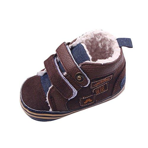 ROPALIA Kleinkind Winter Warme Schuhe Säuglingskleinkind Anti Slip Boots (1 Kleinkind-brown-leder-schuhe)
