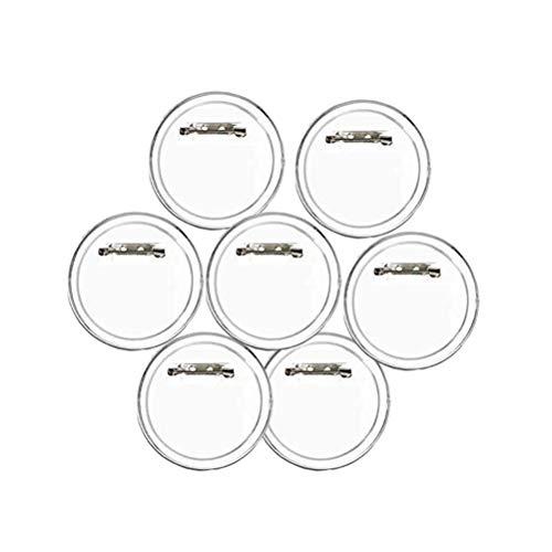 Healifty 36 STÜCKE Taste Abzeichen pin kit acryl Design Taste klar DIY bastelbedarf (runde Durchmesser 60mm)