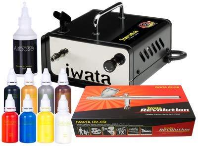 Iwata Professionelles Airbrush Body Art Kit mit Ninja Jet Kompressor -