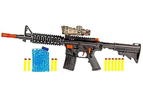 Soft-Air Maschinen-Gewehr 58cm Federdruck ABS Kaliber 11mm Wasser-Kugeln Gelee-Kugeln Munition
