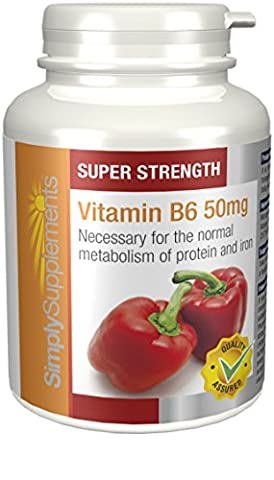 Vitamin B6 50mg | Regulates Hormonal Activity | 360 Tablets | 100% money back guarantee | Manufactured in the