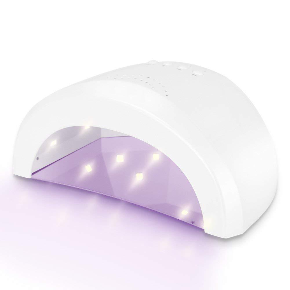 Lámpara de Uñas UV/LED YAOJU 24W/48W Lampara Secador de Uñas con Temporizador 5s/30s/60s, Temporizadores y Sensor Automático para UV Gel y Esmalte Normal de Manicura y Pedicura