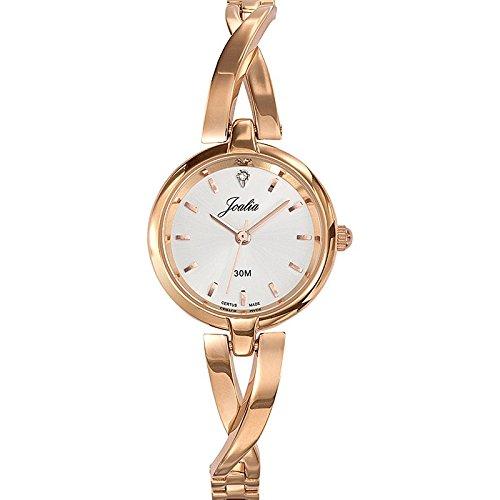 Joalia-631920-Orologio da donna con cinturino in metallo con quadrante, colore: rosa