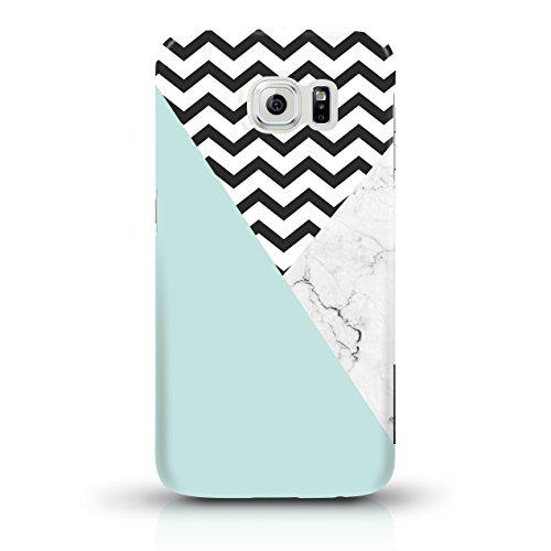 """JUNIWORDS Handyhüllen Slim Case für Samsung Galaxy S6 - Motiv """"Bunter Elefant schwarz"""" Schutzhülle für Ihr Smartphone Türkis, Chevron, Marmor"""