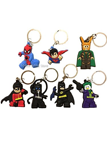 lego-movie-7-batman-spiderman-superman-piece-keychain-party-bag-favour-keyring-bag-charms