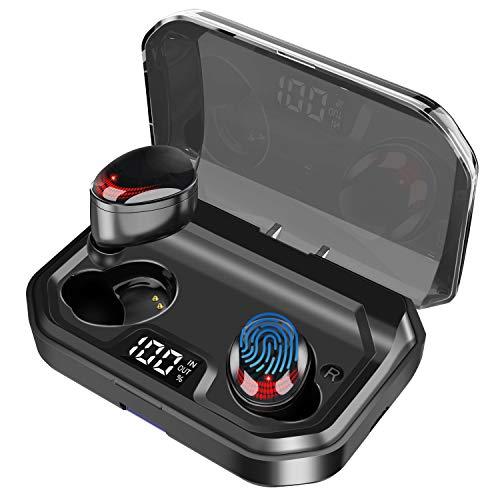 Gemtop [2019 Neueste] Kabellos Bluetooth Kopfhörer,Noise Cancelling Bluetooth 5.0 Headset In Ear Ohrhörer mit 3000mAh Batterie,100 Stunden Spielzeit, IPX7 Wasserdicht