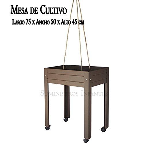 Lackierter Tisch umfassende Anbau von Braun. Maße: Länge 75cm x Breite 50cm x Höhe 45cm inkl. 3Ruten Bambusmotiven + Zubehör Befestigung + 4Rollen Modell Berlin mit