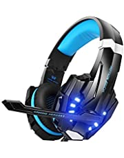 Kotion Each: Over the Ear Headsets with Mic & LED - G9000 Edition for PC/ iPad/ iPhone/ Tablets/ Mobile Phones