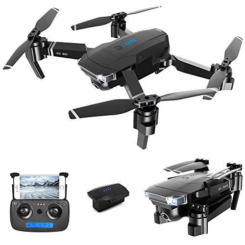 YAYY RC Droni con Fotocamera WiFi FPV Gesture Foto Video Altitude Hold Pieghevole RC Selfie Quadcopter,Quadcopter Pieghevole 2.4GHz 4K HD Drone Mini Selfie Droni 3 Batteria per Principianti Bambini