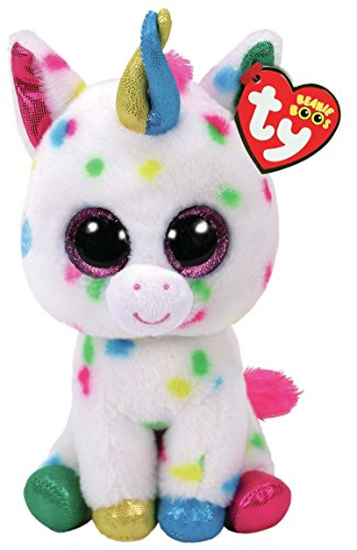 Ty Harmonie Peluche unicornio, color multicolor, blanco (United Labels Ibérica 36898TY)