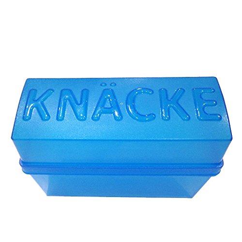 Knäckebrotdose Knäckebrotbox, Kunstoff, blau-transparent, 1 Stück
