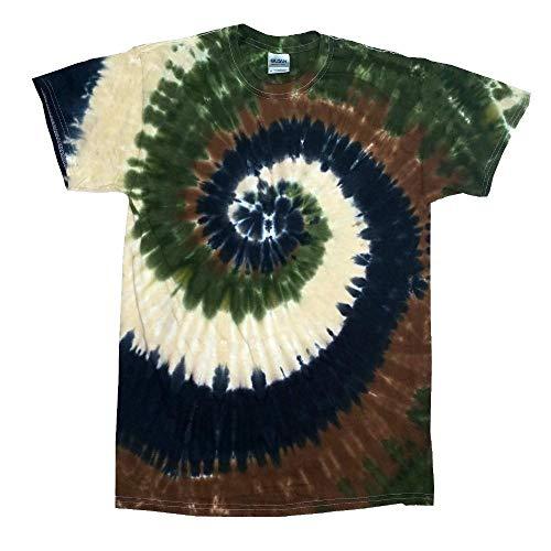 Colortone - Unisex Batik T-Shirt 'Swirl' / Camo Swirl, XXL (Camo Tie Dye)