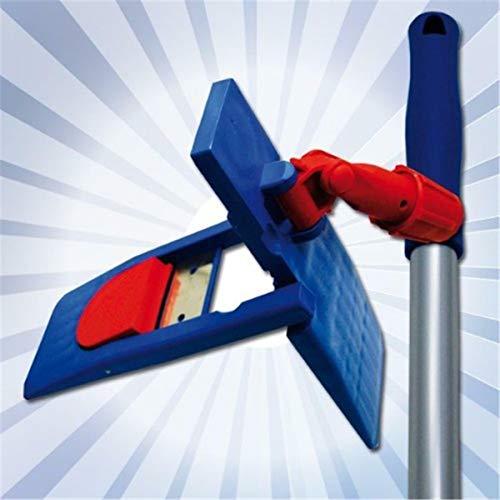 Stahlmann & Sachs MAGNETKLAPPHALTER + STIEL für Wischmopp 40 oder 50cm (50 cm Magnetklapphalter) + Gratis PRIMEMOP GlanzReiniger
