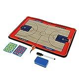Unbekannt Baoblaze Profi Basketball Taktiktafel Klemmbrett mit Stifte, Radiergummi und Magneten, Abwischbar