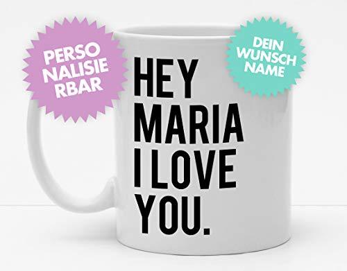 Tasse | Hey (?) I Love You | Personalisierte Tasse | Kaffeetasse | Coole Liebesbotschaft | Modern | Schick | Schlicht | Valentinstag | Liebe