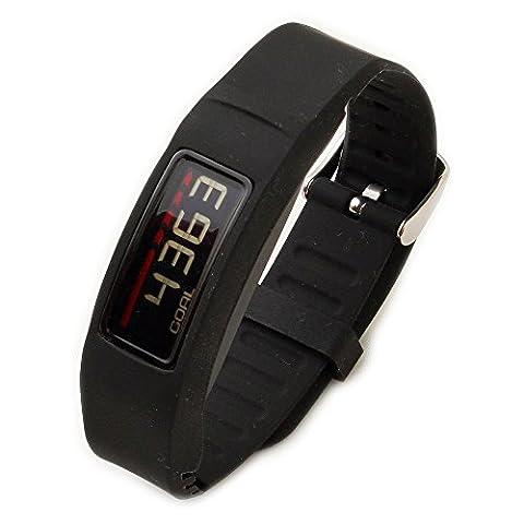 Greatfine Bracelet de montre en silicone pour Garmin vivofit 2 regarde bande de remplacement Accessoires ( Black )
