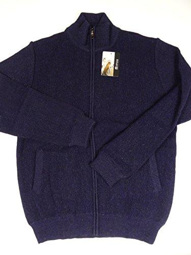 Chandail homme en laine d'alpaga bien, marine Bleu