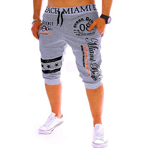 riou Pantalones Cortos Hombre Moda Verano Deportiva Pantalón Corto Casual Masculinos Trabajo Pants Color sólido Deportivo Pantalon Fitness Pantalones Chandal Gym