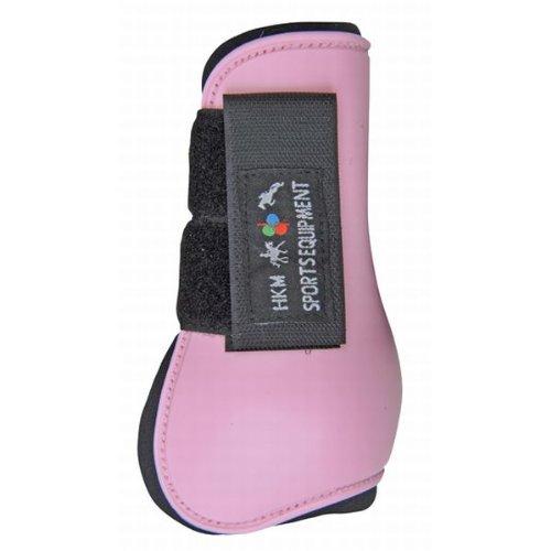 HKM 561141 HKM Shetty Springgamaschen Softopren für Vorderbeine, rosa/schwarz