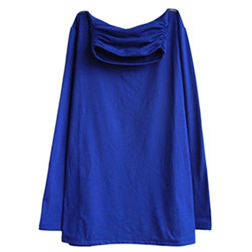 Active Basic ausgestattet, langärmlig, Rundhalsausschnitt und high neck T Shirt - hblue