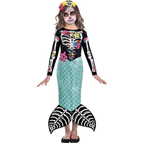 Braut Tote Kostüm Mädchen - Tag der Toten Braut - Tag der Toten Halloween Kostüm Kinder Mädchen Amscan